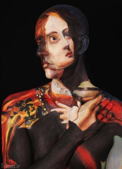 نقاشی های فوق العاده زیبا روی بدن انسان