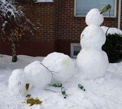 تصاویر آدم برفی های عجیب و زیبا