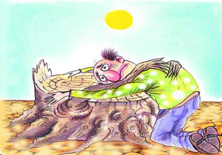 کاریکاتور های غم انگیز محیط زیست
