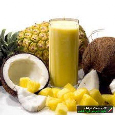 طرز تهیه آیس پک آناناسی آموزش