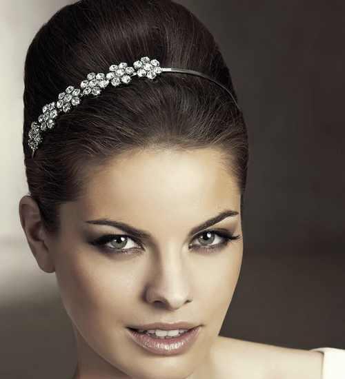 مدل های زیبا از تل سر و گل سر عروس
