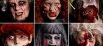 عکس های وحشتناک از گریم صورت هالووین