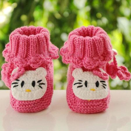 مدل های زیبای پاپوش بافت نوزادی