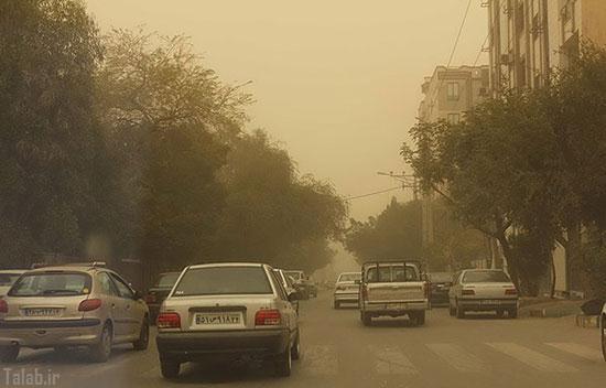 تصاویر گرد و غبار شدید در اهواز