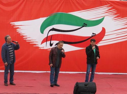 عموهای فیتیلهای در راهپیمایی 22 بهمن