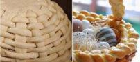 طرز تهیه نان به شکل سبد