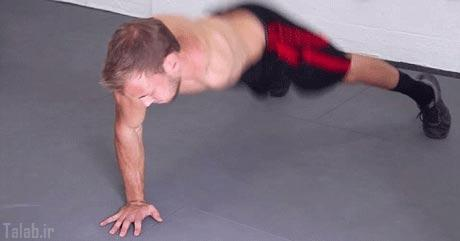 عکس های دیدنی از تمرینات سخت پسر با یک دست