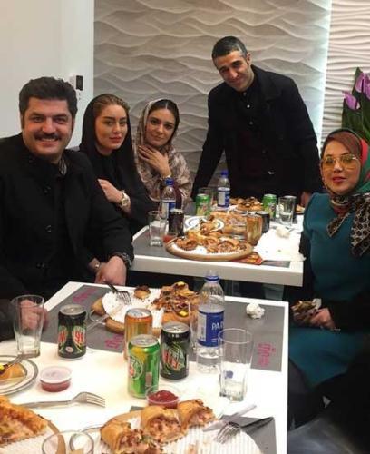 شام خوردن جمعی از هنرمندان در افتتاحيه يک رستوران باحال
