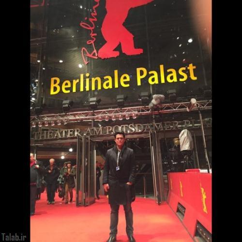 محمدرضا گلزار با تیپ متفاوت در برلین (عکس)
