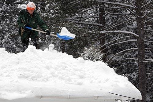 تصاویر دیدنی از بارش سنگین برف در آمریکا