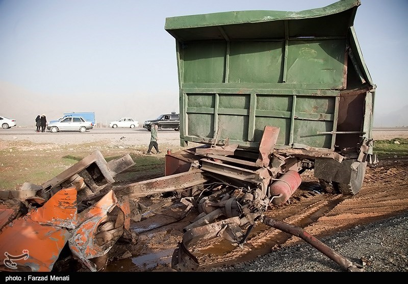 تصادف خونین در محور سنندج-کرمانشاه (+عکس)