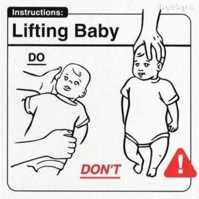 آموزش نکات مهم بچه داری بصورت تصویری