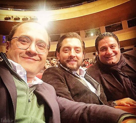 سلفی رامبد جوان با بهرام رادان در افتتاحیه فیلم فجر