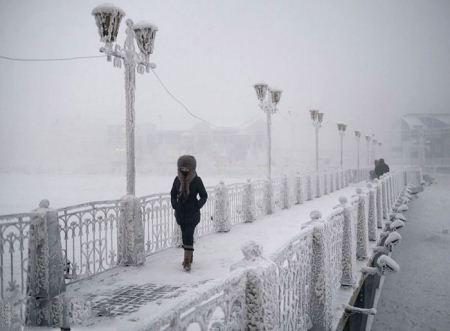 تصاویر دیدنی از سردترین روستای جهان