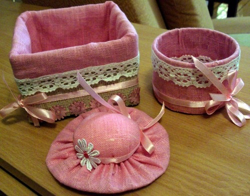 نمونه های سبد و کلاه تزئینی بازیافتی