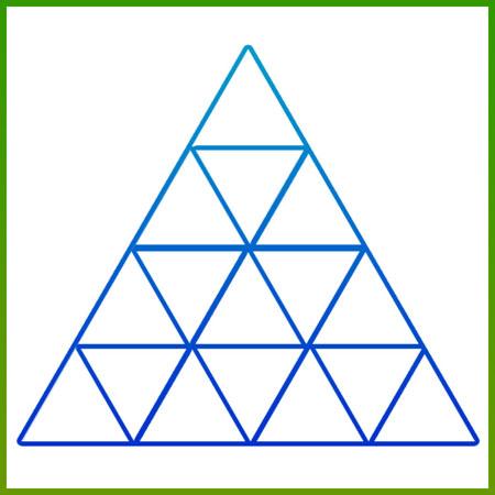 معمای جالب تصویری تعداد مثلث