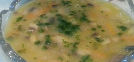 آموزش طرز تهیه سوپ قارچ جو پرک