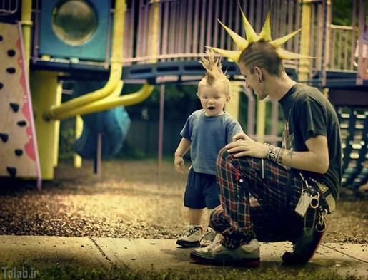 تصاویر جالب و دیدنی از پسر هایی شبیه پدر