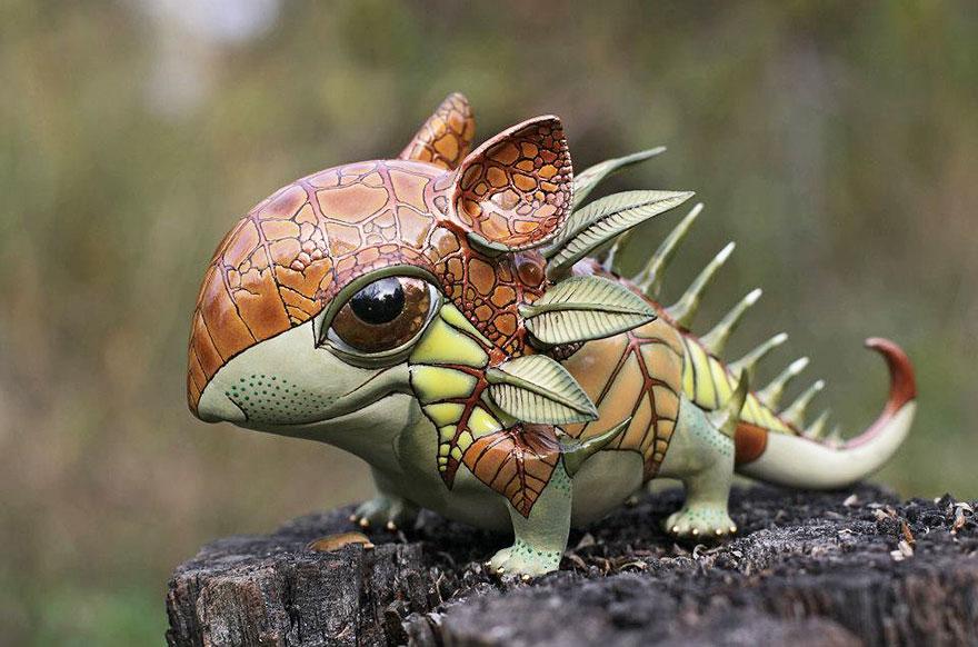 تصاویر هنری از مجسمه حیوانات سنگی