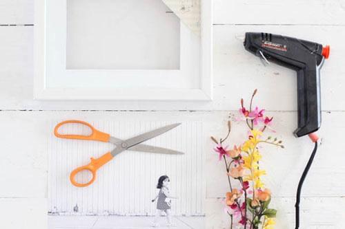 تزیین عکس با گل های خشک یا مصنوعی
