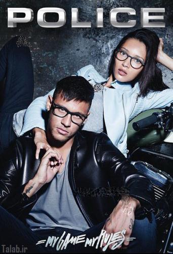 نیمار در تبلیغات عینک پلیس