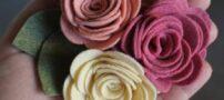 آموزش ساده ساخت گل رز نمدی (فوتری)