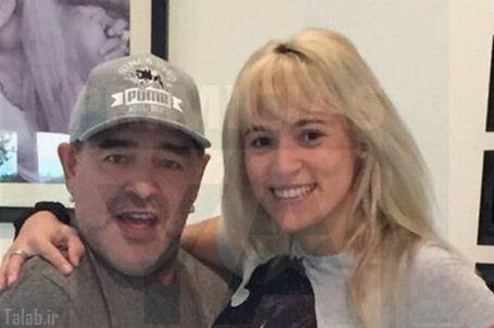 مارادونا به خاطر نامزد جوانش عمل زیبایی انجام داد (عکس)