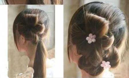 آموزش ساده و زیبای شنیون مو در خانه
