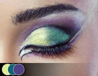 عکس های زیباترین آرایش چشم طاووسی