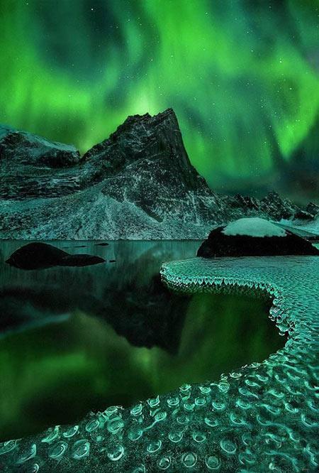 مکان های عجیب جهان در شب (+ تصاویر)