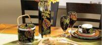 نقاشی ویترای روی ظروف شیشه ای و چینی
