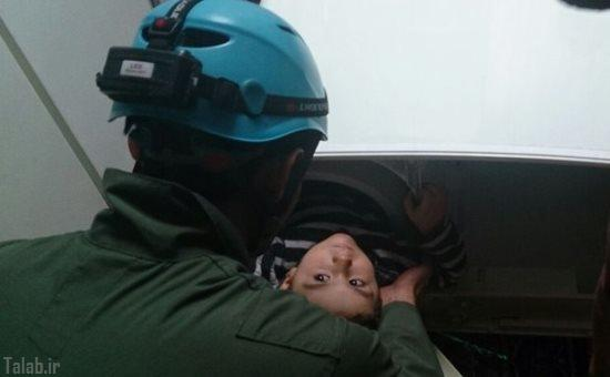 کودکی 3 ساله گرفتار در ماشین لباسشویی (عکس)