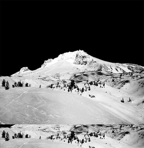 تصاویر کوهی زیبا و 3 بعدی در ته لیوان