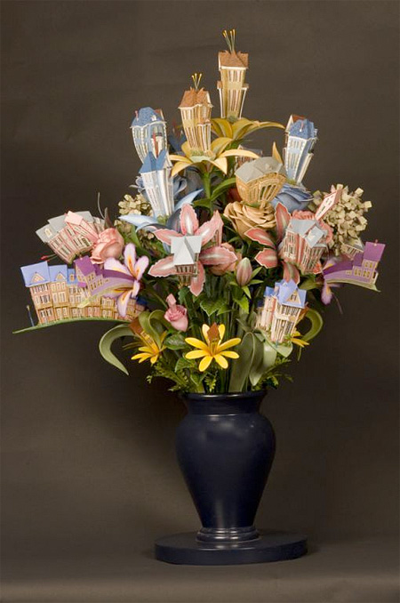گل های زیبای سازه ای مینیاتوری