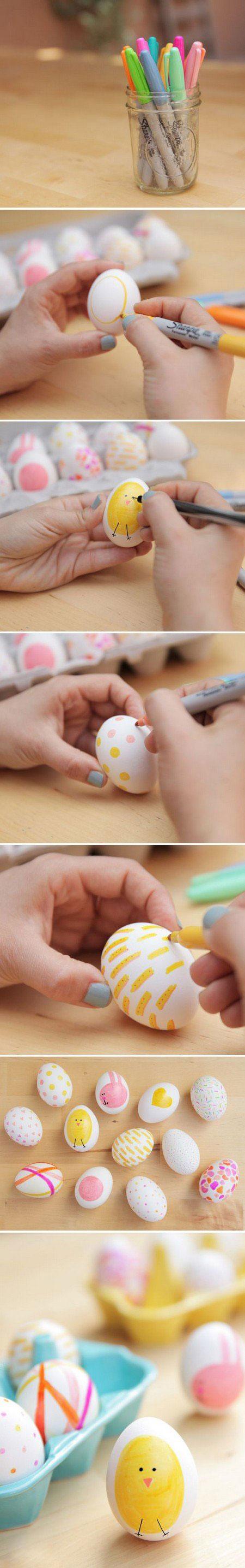 تزئین تخم مرغ عید به شکل جوجه