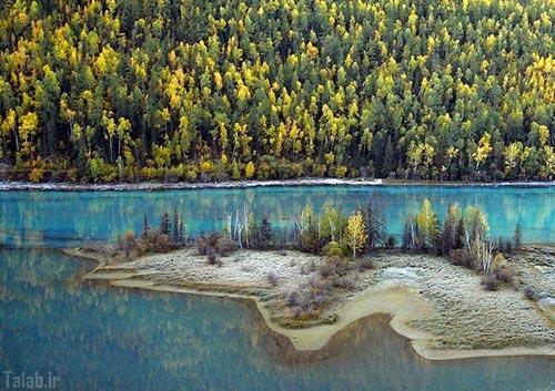عکس های یک دریاچه رویایی و زیبا در چین