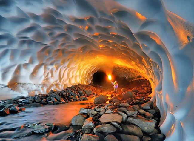 آشنایی با تونل برفی ازنا در لرستان