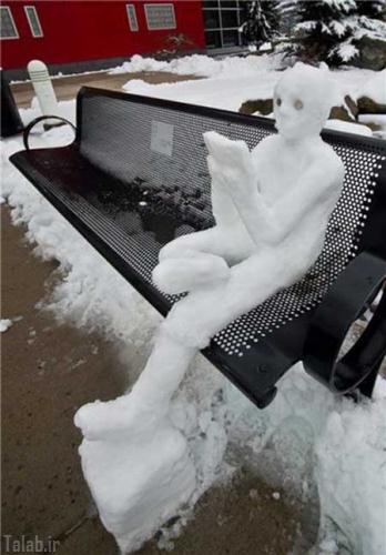آدم برفی های خلاقانه و دیدنی