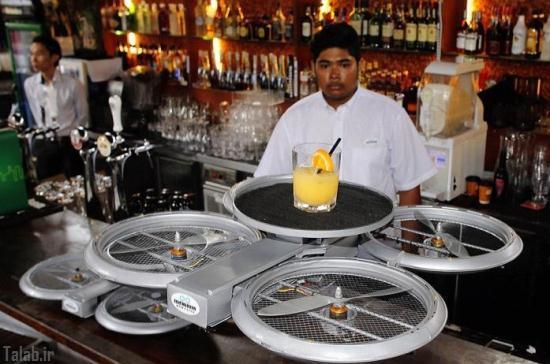 پهپاد های گارسون در رستوران ها