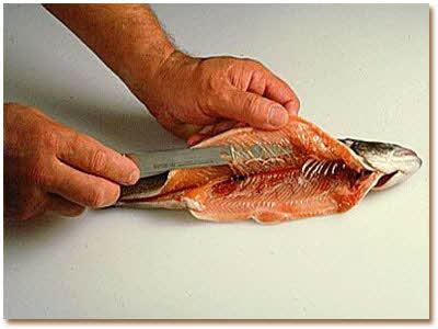 آموزش تصویری پاک کردن ماهی قزل آلا