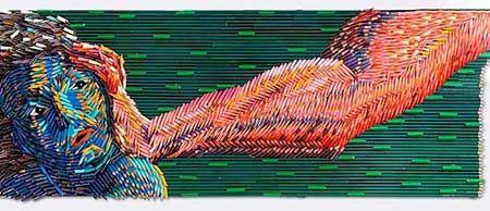 عکس های دیدنی از هنرمندی با مداد رنگی