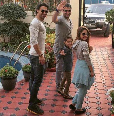 خوشگذرانی فرهاد مجیدی و خانواده اش در دبی