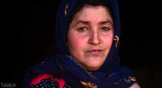 زندگی آسان زن افغان بدون دست + تصاویر