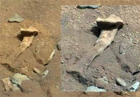 عکس استخوان ران در مریخ + تصاویر
