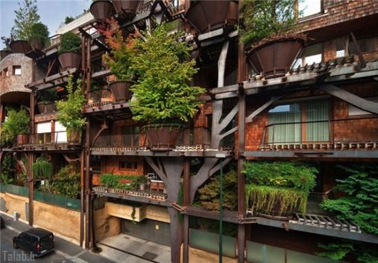 ساختمان زیبا که با آلودگی مبارزه می کند + تصاویر