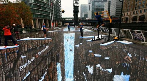 خلاقیت 3 بعدی جالب در هنر خیابانی (+عکس)