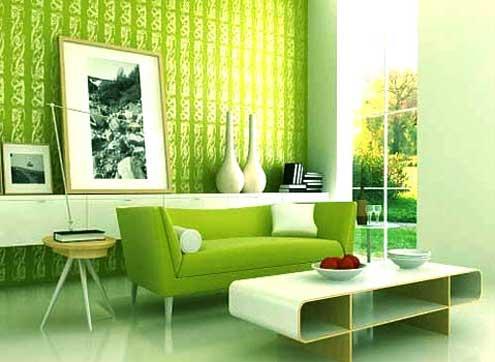 مدل دکوراسیون داخلی به رنگ سبز