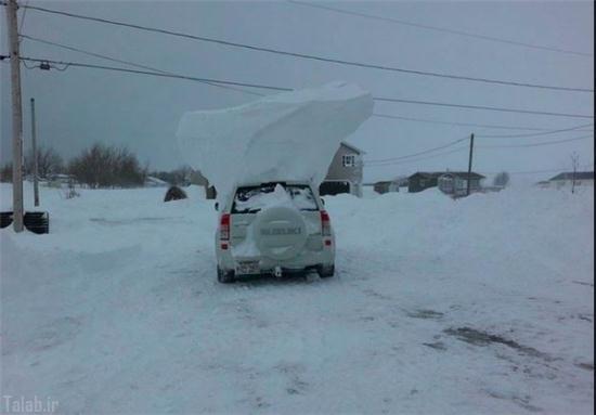 عکس های بارش برف 5 متری در کانادا