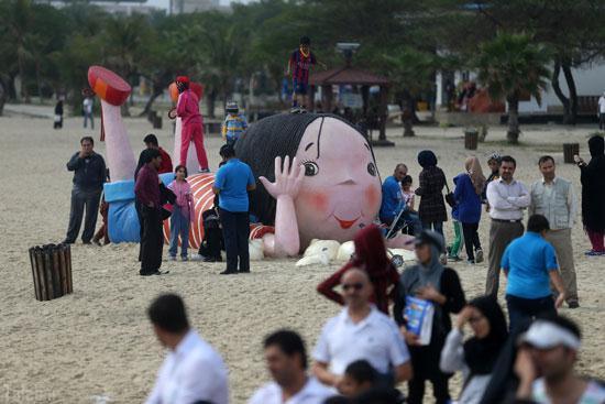تصاویری حال و هوای جزیره کیش در آستانه عید نوروز