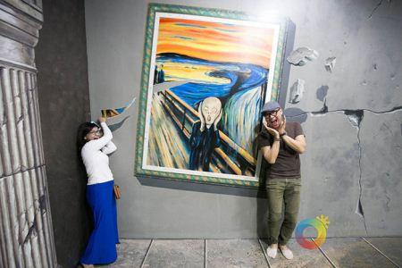 تصاویر نمایشگاه نقاشی های 3 بعدی در فیلیپین